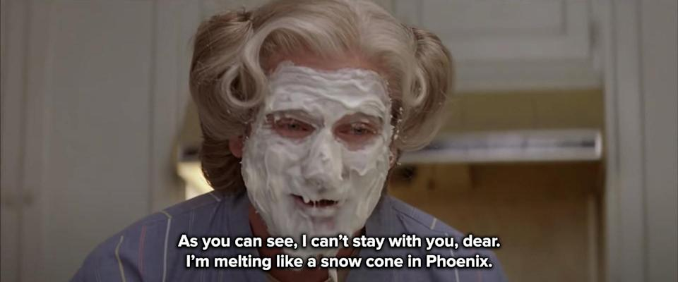 as you can see, I can't stay with you — I'm melting like a snow cone in Phoenix