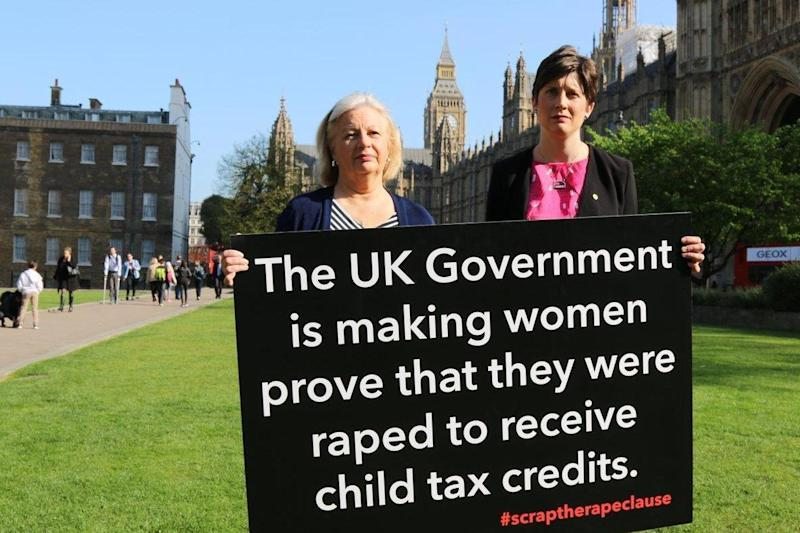 Protest: The clause sparked anger from politicians and charities