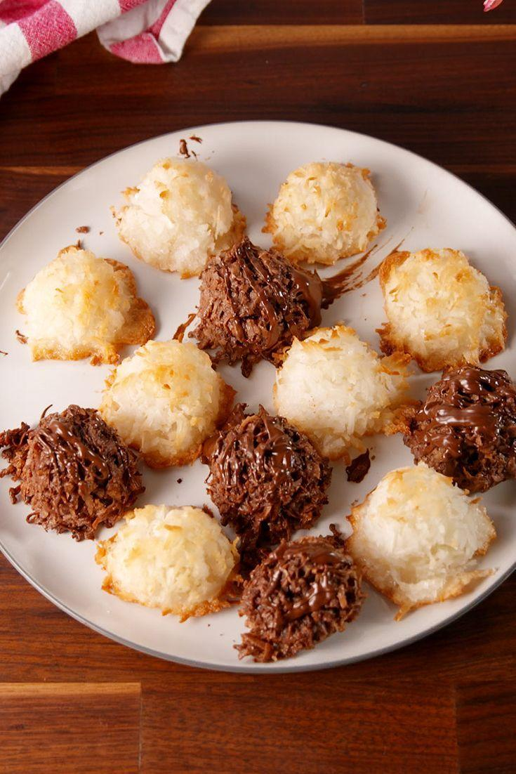 """<p>Not a leavened bite to be found. And do you know how hard it is to find Passover-friendly desserts? </p><p>Get the recipe from <a href=""""https://www.delish.com/cooking/recipe-ideas/recipes/a52234/ultimate-macaroons-recipe/"""" rel=""""nofollow noopener"""" target=""""_blank"""" data-ylk=""""slk:Delish"""" class=""""link rapid-noclick-resp"""">Delish</a>.</p>"""