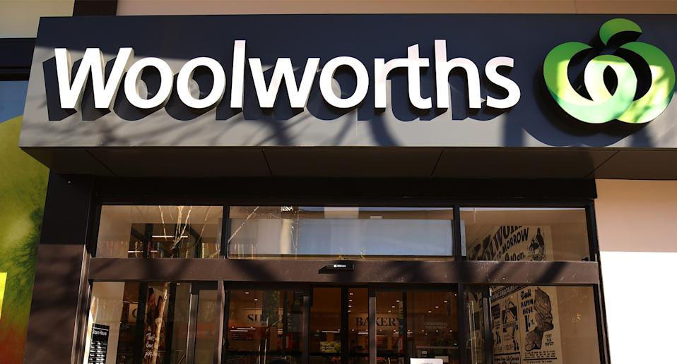 Woolworths shop front.
