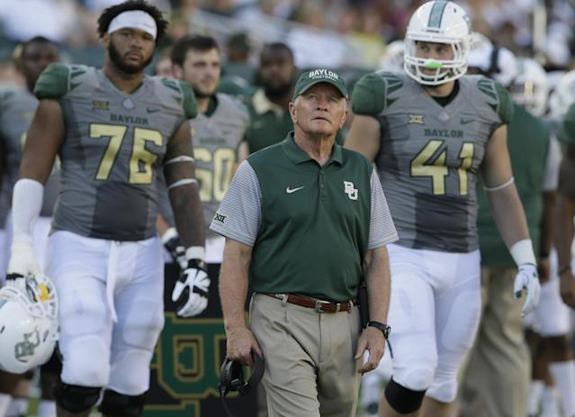 Baylor is off to a 5-0 start in 2016 under acting head coach Jim Grobe. (AP Photo/LM Otero)