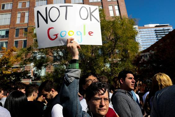 Google staff walked out in November after details of the payments were maid public (Reuters)