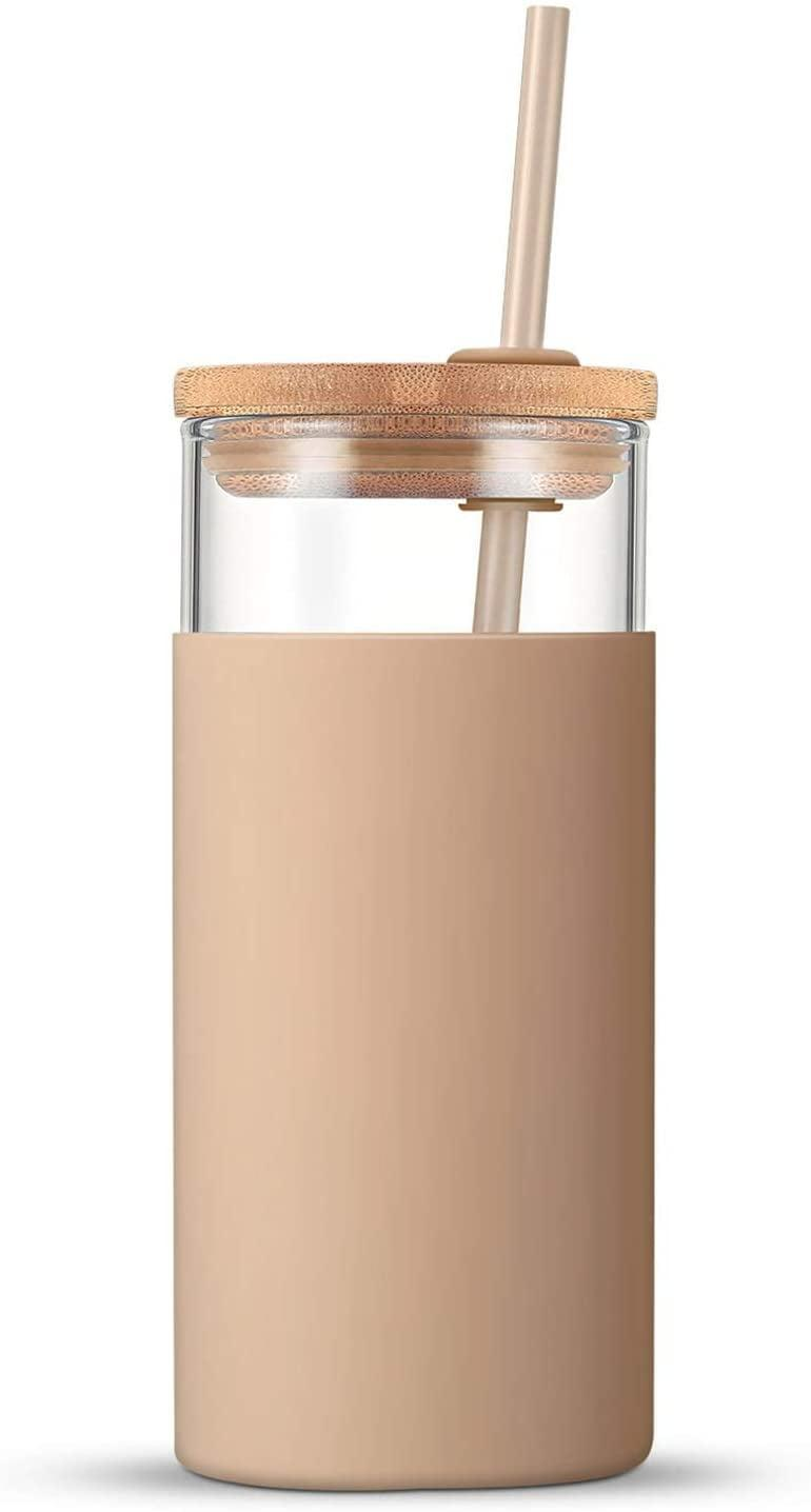 <p>We love the modern look of the <span>Tronco Glass Tumbler</span> ($16), and if it breaks within the first year they'll ship you a replacement for free. </p>