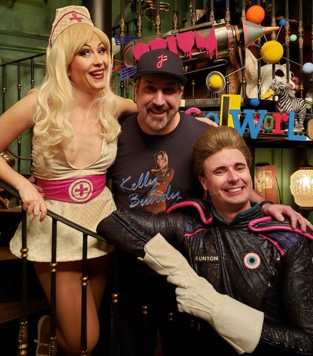 joey fatone at opium show