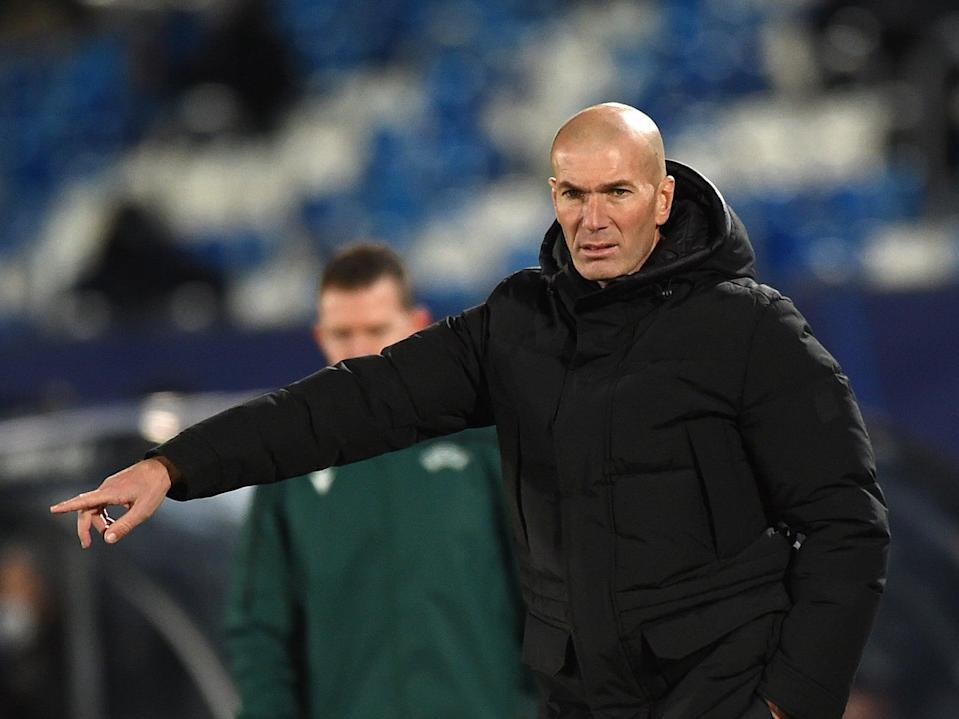 Real Madrid coach Zinedine Zidane (Getty Images)