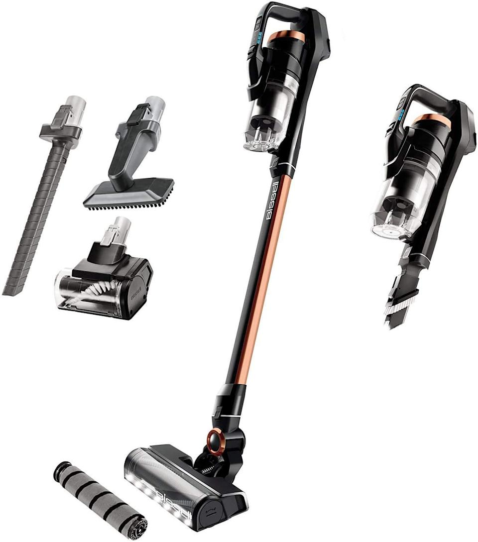 """<br><br><strong>Bissell</strong> ICONpet Pro Cordless Stick Vacuum Cleaner, $, available at <a href=""""https://amzn.to/3yCXNAg"""" rel=""""nofollow noopener"""" target=""""_blank"""" data-ylk=""""slk:Amazon"""" class=""""link rapid-noclick-resp"""">Amazon</a>"""