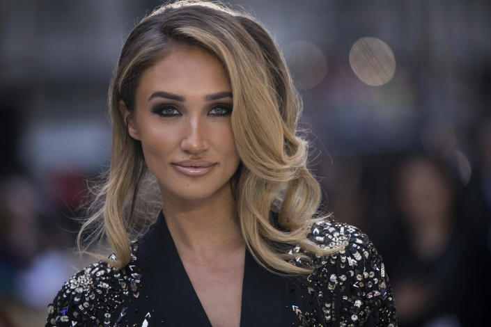 Megan McKenna poses for photographers upon arrival at the world premiere of the film 'King of Thieves', in London, Wednesday, Sept. 12, 2018. (Photo by Vianney Le Caer/Invision/AP)