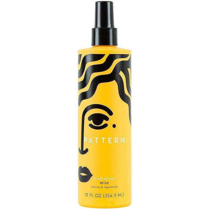 """Newman also recommends this Pattern Hydrating Mist, a <a href=""""https://www.allure.com/story/what-is-glycerin-skin-care-ingredient?mbid=synd_yahoo_rss"""" rel=""""nofollow noopener"""" target=""""_blank"""" data-ylk=""""slk:glycerin-based"""" class=""""link rapid-noclick-resp"""">glycerin-based</a> spray that, he notes, is """"fabulous for dry or coarse hair that is lacking moisture."""" He adds that it's better suited for those with medium to thick density hair, with a milky formula consisting of nutrient-rich aloe vera, coconut, and avocado oils, which work together to boost hair moisture. """"Mist and scrunch this product in or spray individual curl clumps and redefine the texture with finger coils,"""" says Newman."""