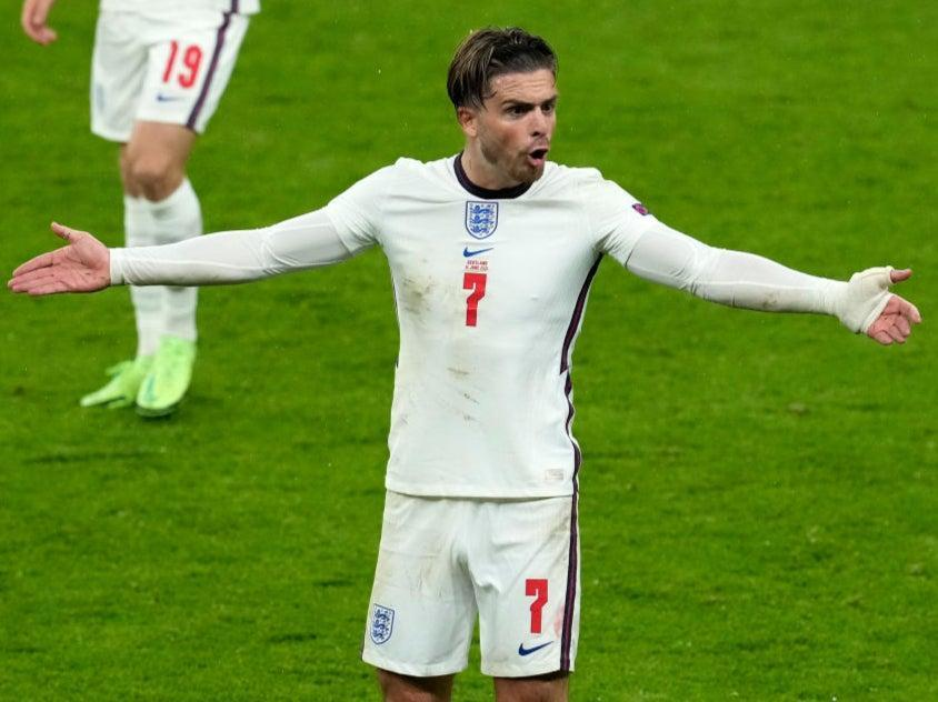 Jack Grealish reacts during England's draw with Scotland (Getty Images)