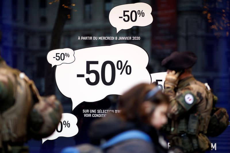 Paris shops' sales halved as strikes bring chaos to the city