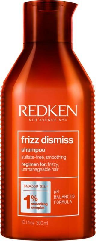 <p>Even the slightest amount of frizz is inevitable, but if you're looking for a tried and true product that smooths the hair better than the rest, <span>Redken Frizz Dismiss Sulfate-Free Shampoo</span> ($23) is for you. Its gentle formula cleanses the hair without stripping away much-needed moisture and combats errant hairs with help from its star ingredient, babassu oil.</p>