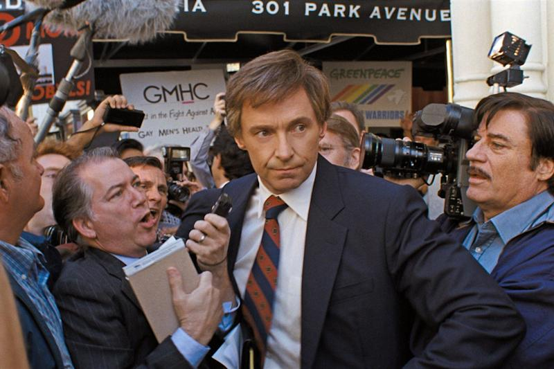 Hugh Jackman stars as US senator Gary Hart in The Front Runner