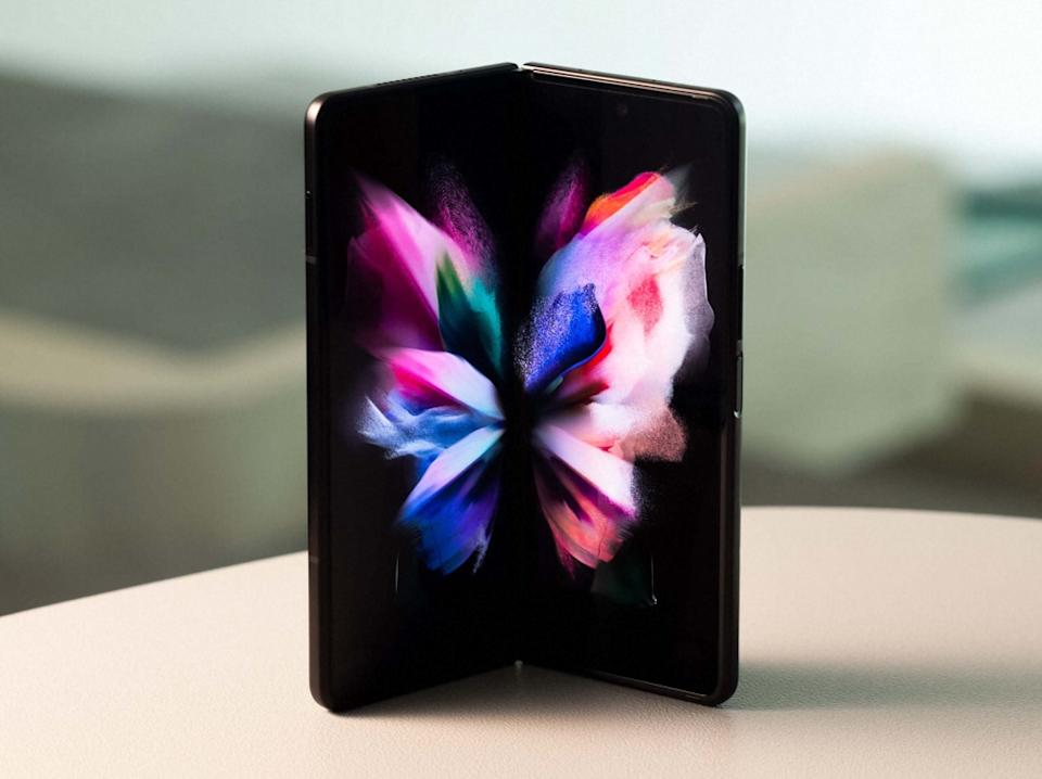 Samsung's Galaxy Z Fold3 is Samsung's latest take on a foldable phone, and gets a stronger display, and water-resistant design. (Image: Samsung)