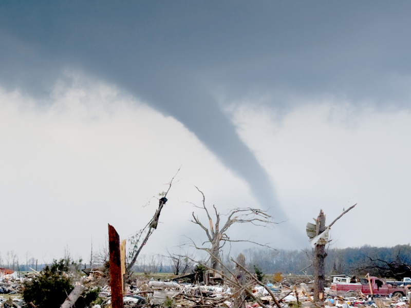This Man Mowing His Lawn During A Tornado Is The Perfect Metaphor