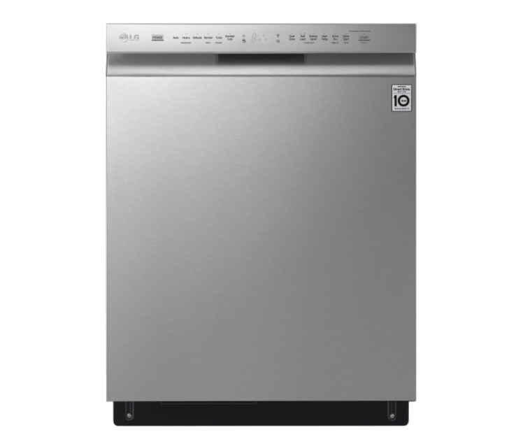 "LG 24"" 46dB Built-In Dishwasher with Third Rack. Image via Best Buy."