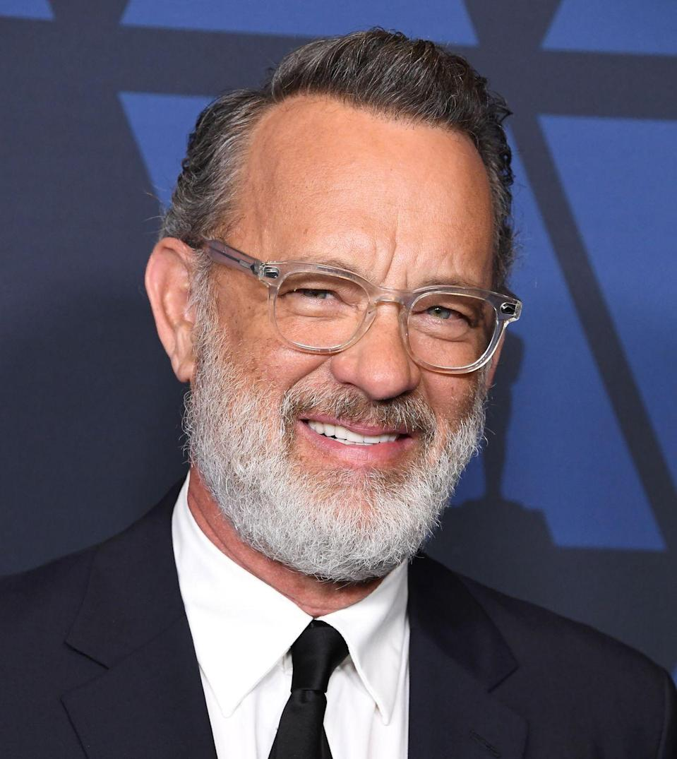 <p>Hanks has slowly been graying on the sides for years. But when he debuted his new beard on the red carpet of the 2019 Governors Awards, we got a fuller picture of what a gray Hanks looks like. Well done, sir!</p>