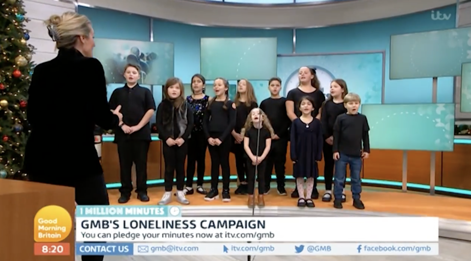 Children's grief choir cut off mid-song on GMB