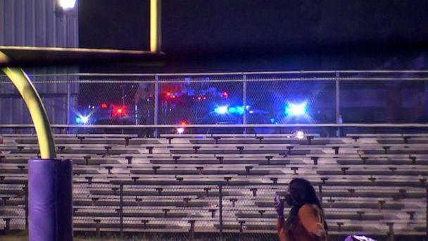 PHOTO: Authorities said a man was struck by gunfire while attending a tailgating event in the parking lot of a high school football stadium in Jefferson County, Alabama, on Sept. 24, 2021. (WBMA)