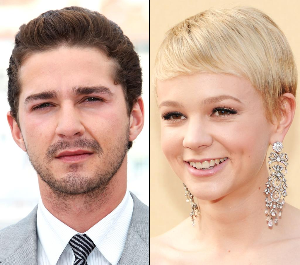 "Shia LaBeouf was charmed by his ""Wall Street: Money Never Sleeps"" co-star (and now girlfriend) Carey Mulligan. Tony Barson/<a href=""http://wireimage.com"" target=""_blank"">WireImage</a> - May 14, 2010 and Kevin Mazur/<a href=""http://wireimage.com"" target=""_blank"">WireImage</a> - March 7, 2010"