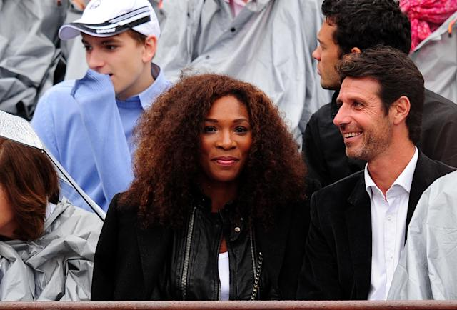PARIS, FRANCE - JUNE 10: Serena Williams of USA looks on during the men's singles final between Novak Djokovic of Serbia and Rafael Nadal of Spain on day 15 of the French Open at Roland Garros on June 10, 2012 in Paris, France. (Photo by Mike Hewitt/Getty Images)