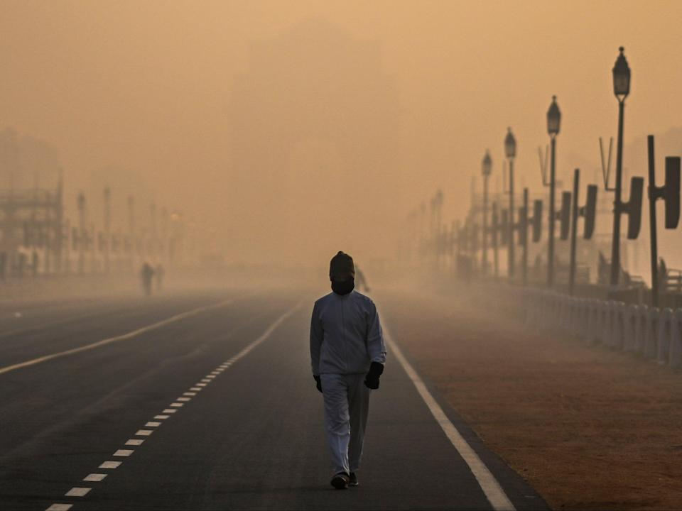 The data shows that pollution-related deaths in India are on the rise, increasing from 1.24m in 2017 to 1.67m in 2019AFP via Getty Images