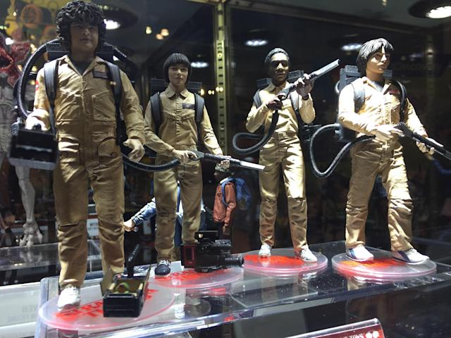 "<p>McFarlane Toys secured the permission of both Netflix and Sony for this <a href=""https://www.yahoo.com/entertainment/tagged/stranger-things"" data-ylk=""slk:Stranger Things"" class=""link rapid-noclick-resp""><em>Stranger Things</em></a>/<em>Ghostbusters </em>mash-up memorializing <a href=""https://www.yahoo.com/entertainment/stranger-things-costume-designer-making-ghostbusters-halloween-costumes-204308659.html"" data-ylk=""slk:Season 2's excellent Halloween episode;outcm:mb_qualified_link;_E:mb_qualified_link"" class=""link rapid-noclick-resp"">Season 2's excellent Halloween episode</a>. (Photo: Ethan Alter) </p>"