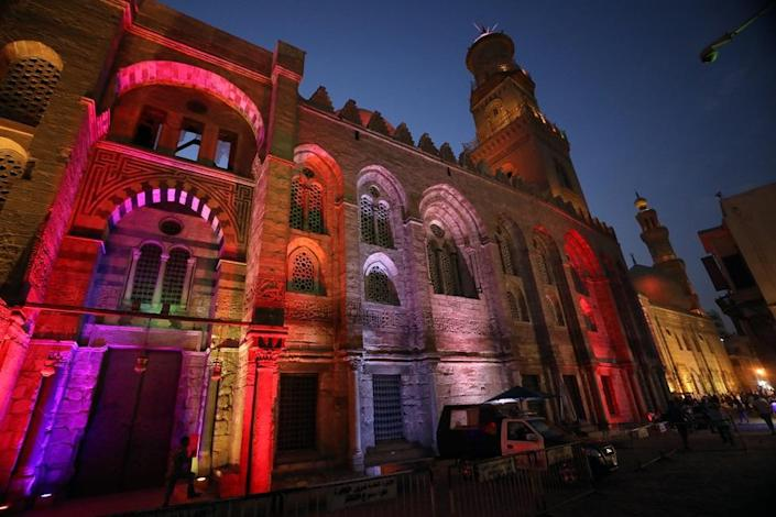 A general view of the complex of Sultan Qalaun in the historical street of Elmoez Lideen Ella in Old Cairo, Egypt, 27 September 2021, as the world marks the United Nations (UN) World Tourism Day.