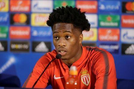 Soccer Football - Champions League - AS Monaco Press Conference - Estadio do Dragao, Porto, Portugal - December 5, 2017 Monaco's Terence Kongolo during the press conference REUTERS/Miguel Vidal