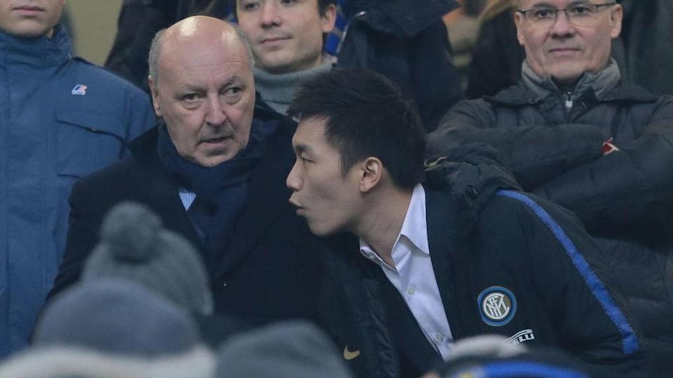 Beppe Marotta e Steven Zhang | Emilio Andreoli/Getty Images