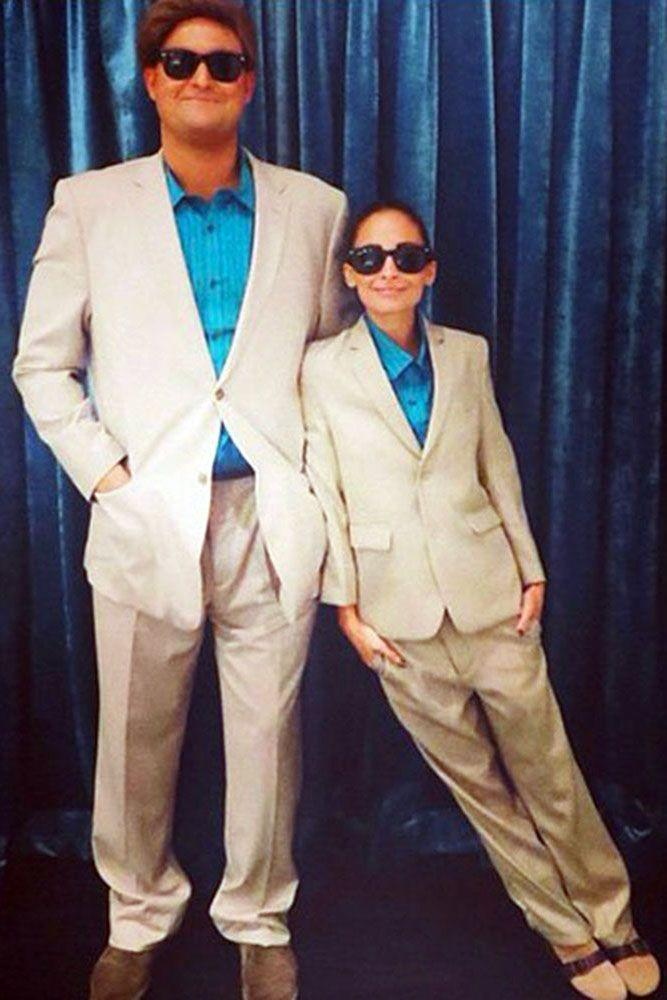 <p>Nicole Richie and a friend as Danny DeVito and Arnold Schwarzenegger from <em>Twins</em>.</p>