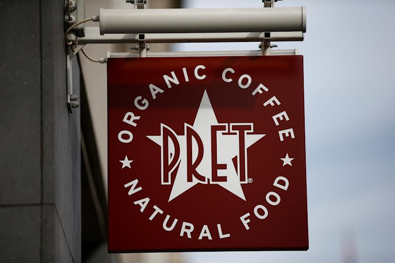 A Pret A Manger sign is seen in central London, Britain October 7, 2018. Reuters/Henry Nicholls