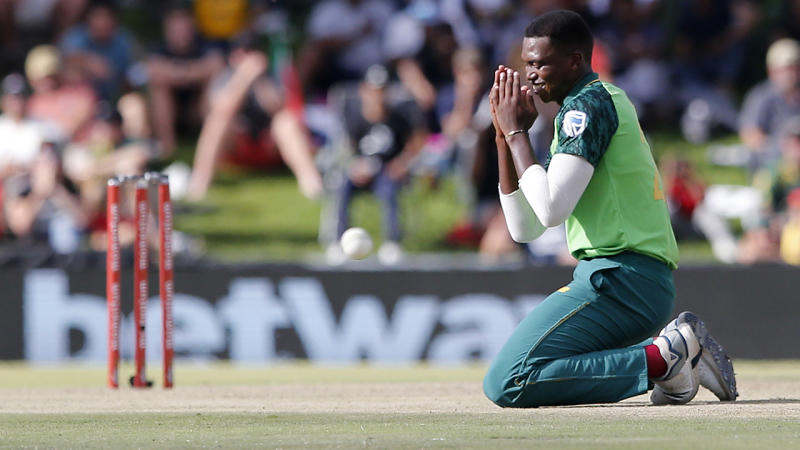 Lungi Ngidi, pictured here in action for South Africa against Australia.