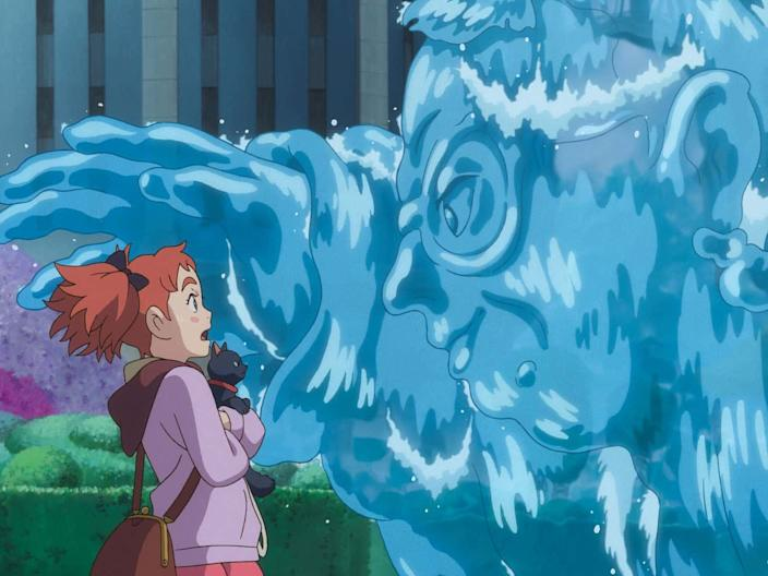 """In """"Mary and the Witch's Flower,"""" a young girl attends a magical school."""