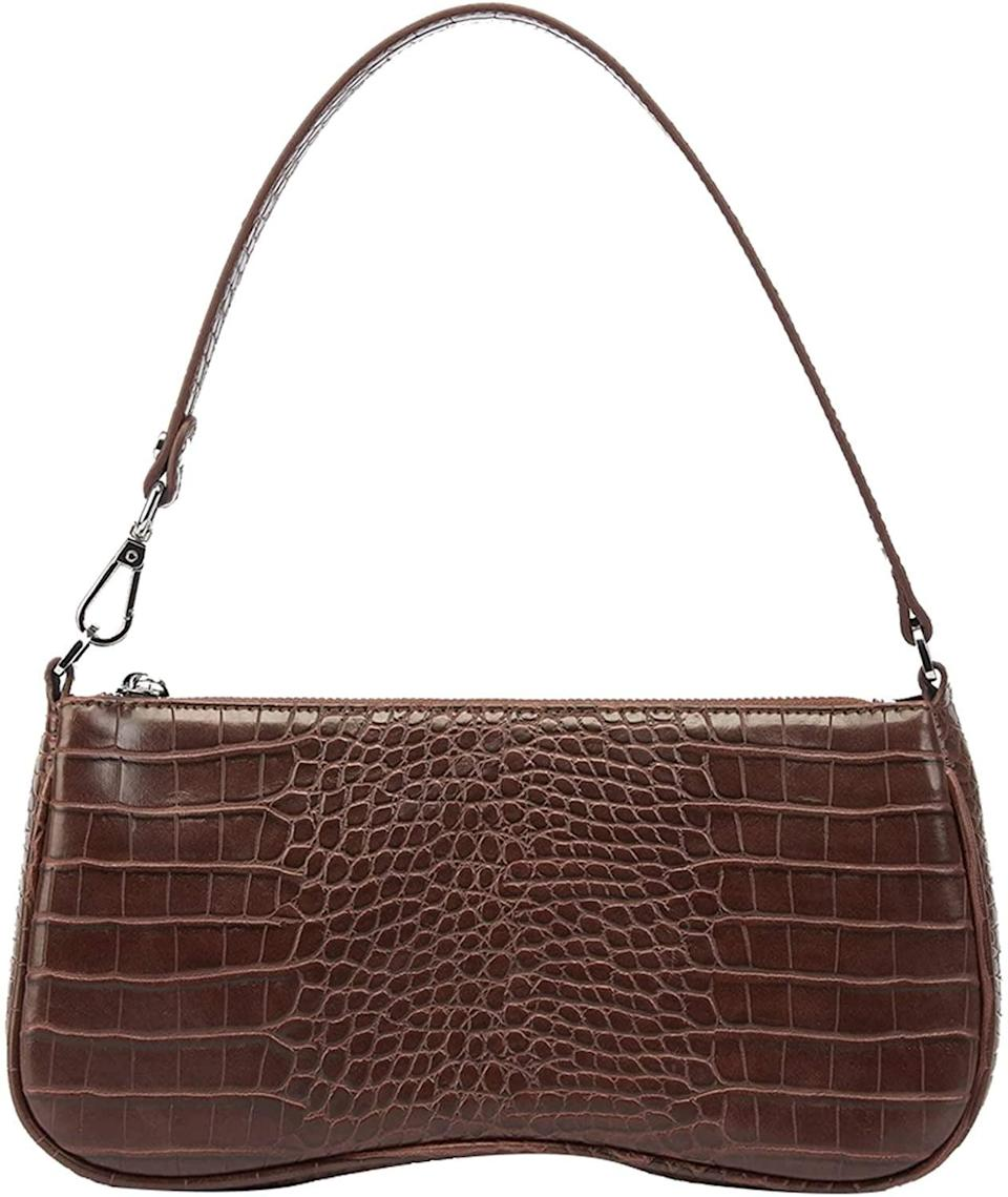 <p>The <span>JW PEI 90s Shoulder Bag Vegan Leather Crocodile</span> ($31) is a great going-out bag. </p>
