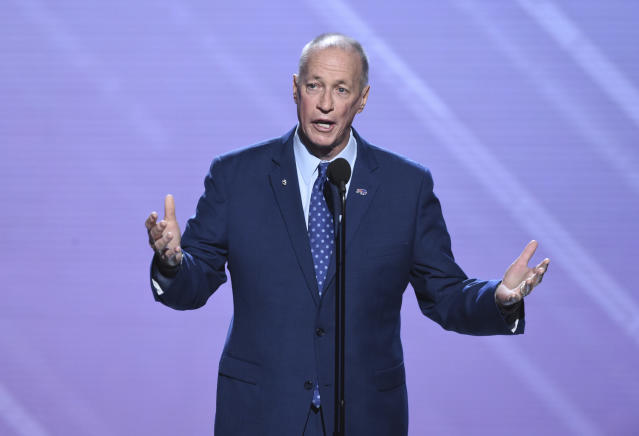 Jim Kelly invoked Jimmy V and urged people to make the small gestures to make difference in people's lives during an ESPYs acceptance speech. (AP)