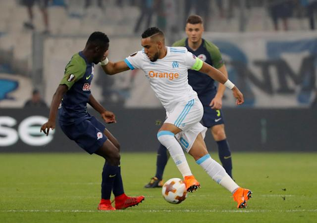 Soccer Football - Europa League Semi Final First Leg - Olympique de Marseille vs RB Salzburg - Orange Velodrome, Marseille, France - April 26, 2018 Marseille's Dimitri Payet in action REUTERS/Eric Gaillard
