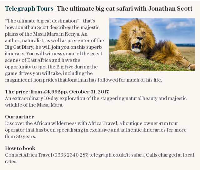 Telegraph Tours | The ultimate big cat safari with Jonathan Scott