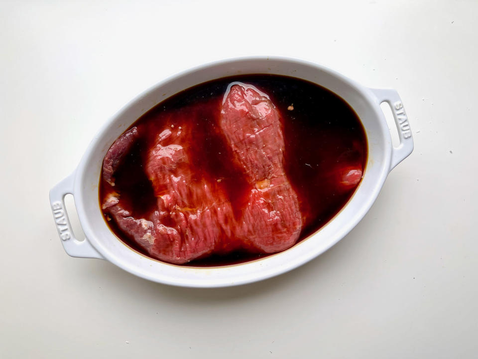 If you want to marinate your meat, make sure your marinade has plenty of salt. (Ali Rosen)