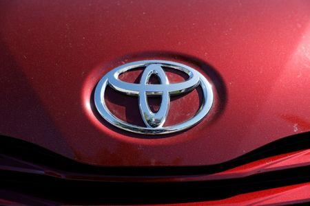 A Toyota logo is seen on a car at City Toyota in Daly City, California, U.S., October 3, 2017. REUTERS/Stephen Lam