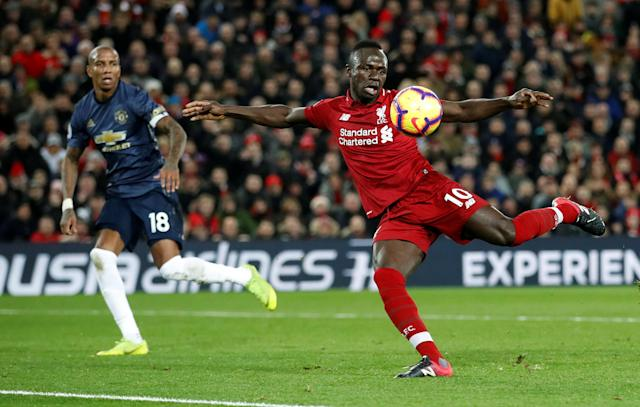 Sadio Mane opened the scoring for Liverpool in Sunday's 3-1 win over Manchester United at Anfield on Sunday. (Carl Recine/Reuters)