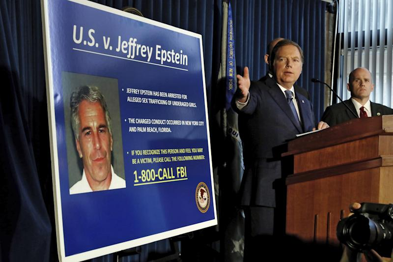 Federal prosecutors announced sex trafficking and conspiracy charges against wealthy financier Jeffrey Epstein.
