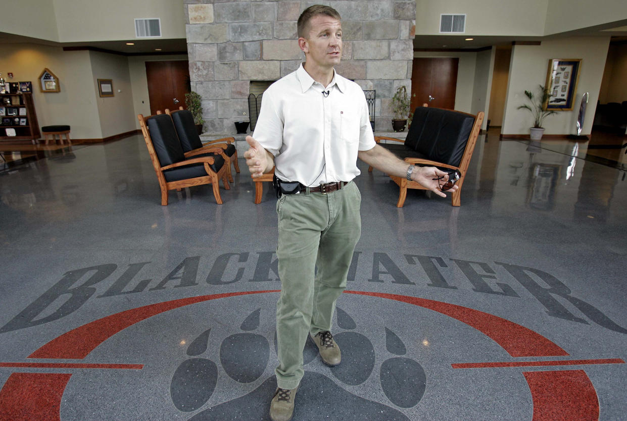Erik Prince, founder and CEO of Blackwater Worldwide, in 2008. (Photo: Gerry Broome/AP)