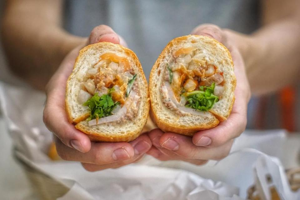 cross-section of banh mi
