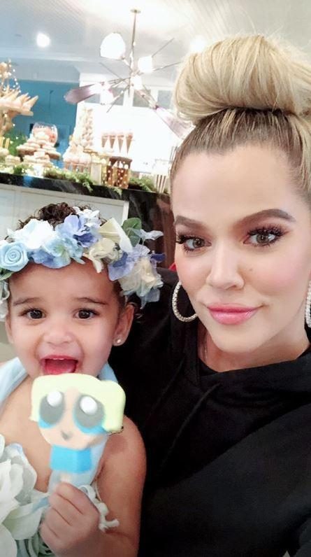 Niece: Khloe documented the day on social media (Khloe Kardashian Instagram)