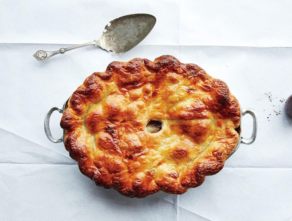 "Treat this beef pot pie as a weekend project (quick it's not) and your Sunday supper will be off the charts. <a href=""https://www.bonappetit.com/recipe/beef-bourguignonne-pot-pie?mbid=synd_yahoo_rss"" rel=""nofollow noopener"" target=""_blank"" data-ylk=""slk:See recipe."" class=""link rapid-noclick-resp"">See recipe.</a>"