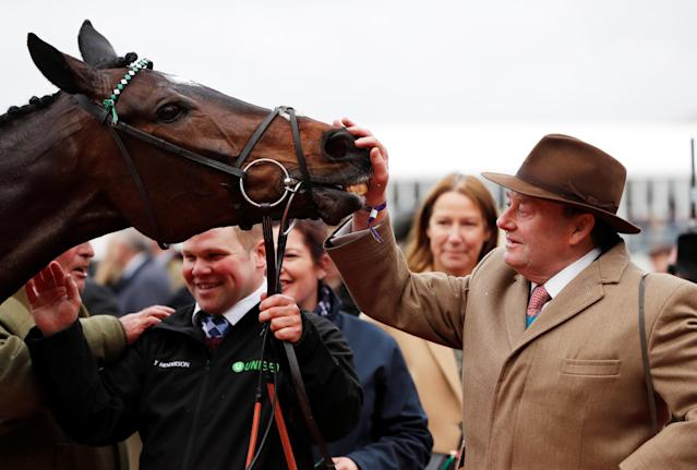 Trainer Nicky Henderson must now decide future targets for his star chaser Altior, who lost his 19-race unbeaten run at Ascot