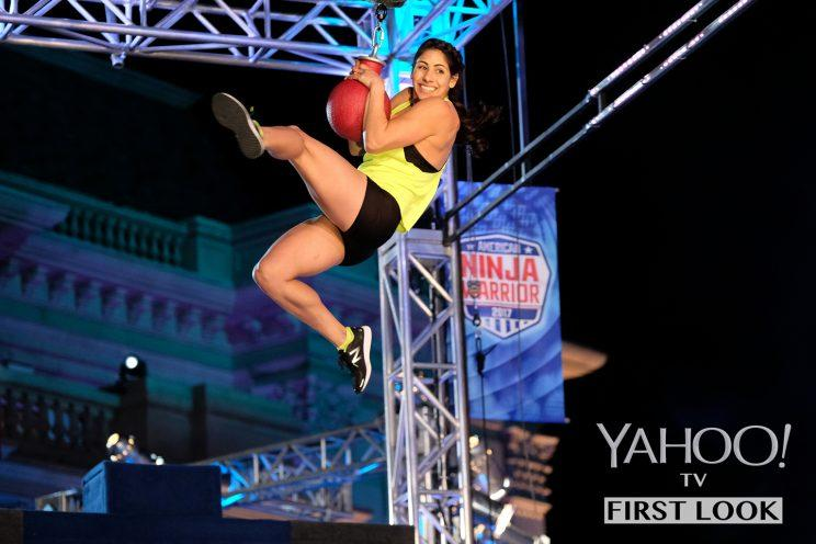 Tiana Webberley in American Ninja Warrior (Photo: Tyler Golden/NBC)