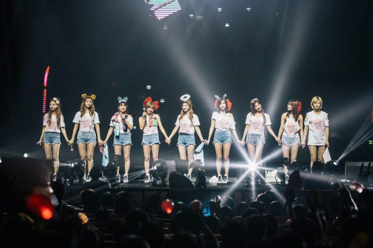 K-pop girl group TWICE at their first concert in Singapore (Photo: ONE Production)