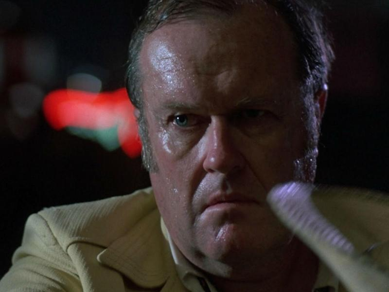 M. Emmet Walsh as Private Detective Loren Visser in the Coen brothers' 'Blood Simple' (1984)