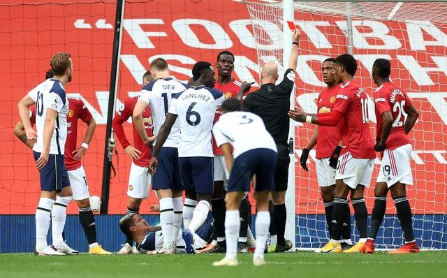 Martial saw red